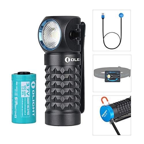 Olight Perun Mini Stirnlampe 1000 Lumen Cool White LED Wiederaufladbare magnetische USB Scheinwerfer Taschenlampe EDC Taschenlampe Kleine Taschenlampen, mit 16340 Batterie + Batteriekasten