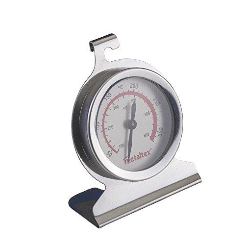 Metaltex 298052 Four Thermomètre en Acier Inoxydable, Argent, 5 cm