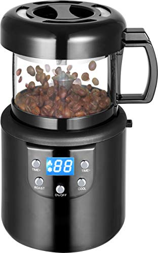 Fully Automatic Coffee Roaster Machine Home Commercial Hot Air Coffee Roaster Beans Grains Peanuts Nuts Coffee Bean Baking & Cooling 2 in 1 Machine