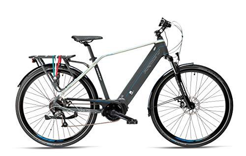 Armony Arese, Bicicletta Elettrica Unisex Adulto, Grigio Scuro Grigio Betulla, 28'