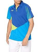 [Mizuno] テニスウェア ゲームシャツ 半袖 62JA0014 ブルー×ディーバブルー 日本 S (日本サイズS相当)