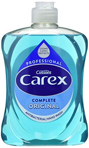 Carex - Pack de 6 botellas de jabón líquido antibacteriano 500 ml