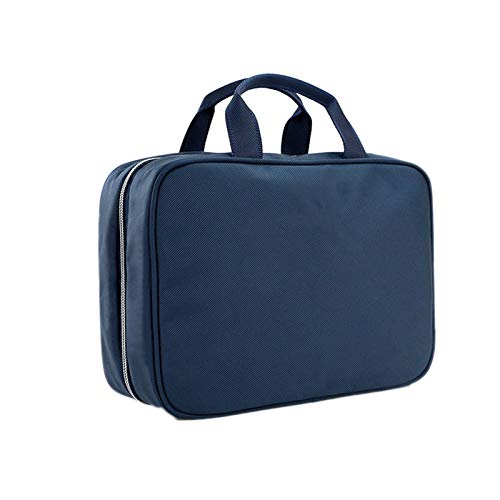 TWW Men's wash bag can be suspended travel multifunctional simple storage bag, gym bathroom waterproof shower bag women,Blue
