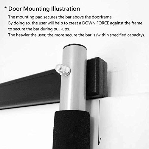 Saving Plus Home Exercise Door Gym Bar Workout Training Chin Up Adjustable Fitness Pull Up