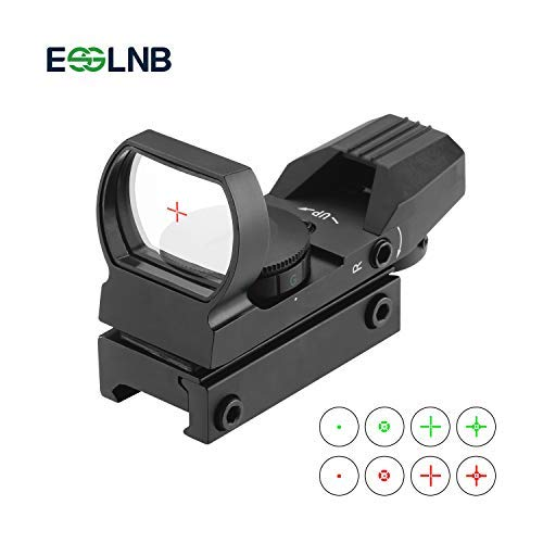 ESSLNB Red Dot Visier Scope Sight Leuchtpunktvisier für 20mm/22mm Schiene mit Montage Schutz und Tactical 4 Reticles