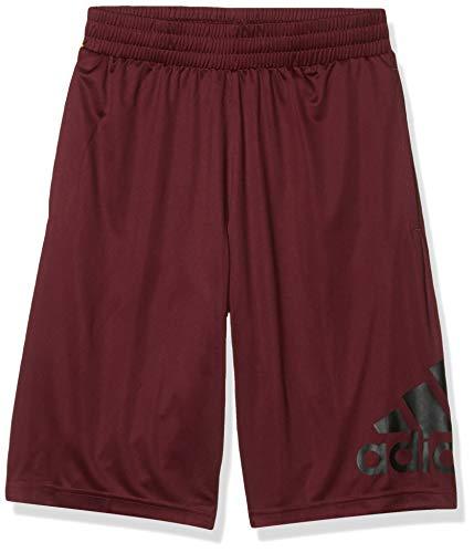 adidas Camiseta de Baloncesto Pantalones Cortos Crazylight, Hombre, Maroon/Black