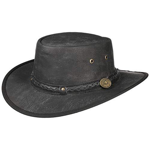 Scippis Cappello in Pelle Springbrook XL (60-61 cm) - Nero