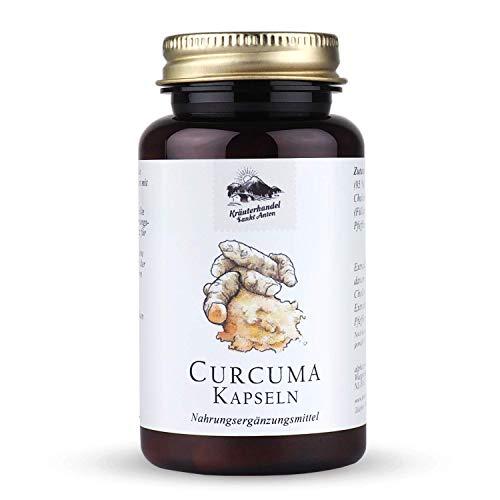 KRÄUTERHANDEL SANKT ANTON® - Curcuma - 323mg Curcuma Ionga Extrakt - Hochdosiert - Cholin und Piperin - Deutsche Premium Qualität (60 Kapseln)