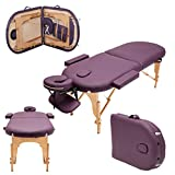 Massage Imperial® Lightweight Professional 2-Section Purple Orvis Portable Massage Table Couch Bed Spa