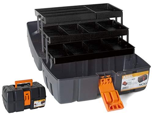 Caja Herramientas 3 bandejas clasificadoras Cierre Seg asa Transporte 37X23X21cm