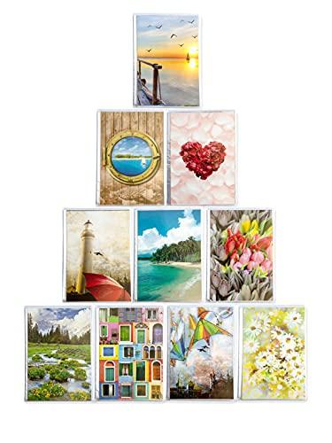 Poesia & Ritratto 10 Album portafoto 10x15 26 Tasche per 52 Stampe. Totale 520 Foto. Copertina e retrocopertina Personalizzabili con Memo. Materiale e Lavorazione di qualità Made in Italy. (10x15)