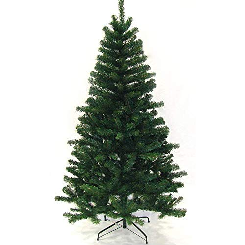 VINGO Künstlicher Weihnachtsbaum 180 cm ca.650 Grün PVC Weihnachtsbäume mit Metallständer Kunststoff Nadeln Weihnachten Deko Außen Weihnachtsdekoration