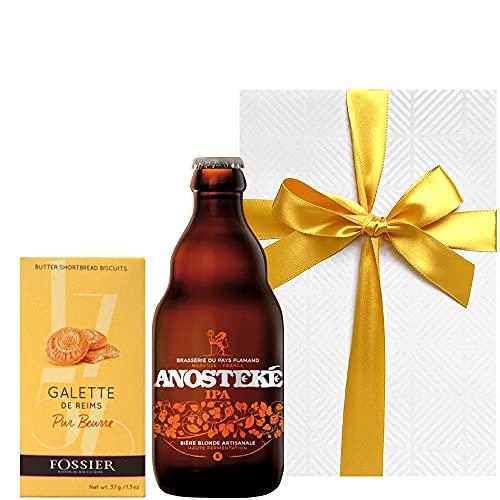 【お中元 夏ギフト】ビール スイーツ フランスビールとフランスのクッキー【ビールとスイーツのギフト】 IPAスタイル「ブラッスリー・デュ・ペイ・フラマン」 330ml クッキー ガレット 箱入り 海外ビール 輸入ビール