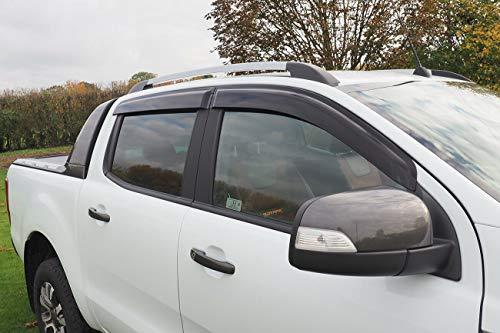 Windabweiser Zubehör für Ford Ranger Double Cab Wind Deflectors 2012-2020