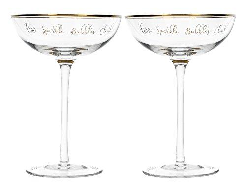 Creative Tops - Set di 2 piattini da champagne, 250 ml