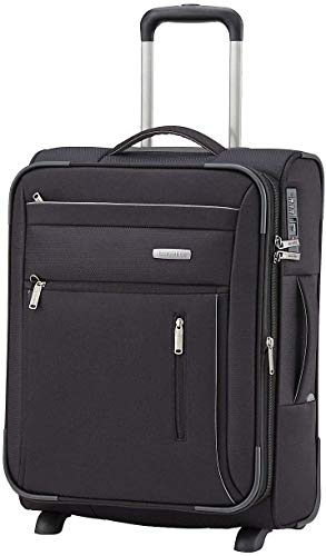 Travelite CAPRI 2 Rad Trolley S, erweiterbar, Schwarz 89807-01 Hand Luggage, 53 cm, 41 liters, Black (Schwarz)