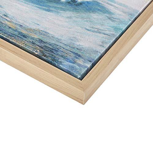 Madison Park Seascape Wall Art-Coastal Theme Complete Set Modern 4 Piece Home Painting Gel Coat Canvas, Living Room Décor, See Below, Blue