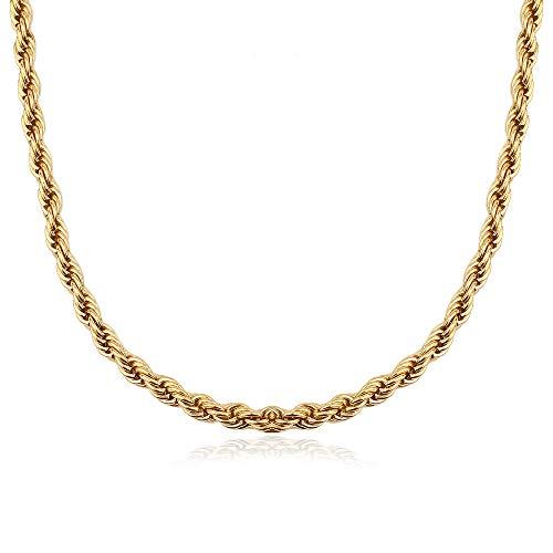 GD GOOD.designs EST. 2015 Kordelkette für Damen in Gold (5 mm)