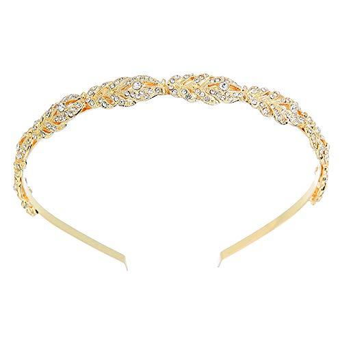 Deniferymakeup Braut-Krone, Strass-Tiara, Silber, Gold und Rotgold, Stirnband, Haarschmuck für Damen