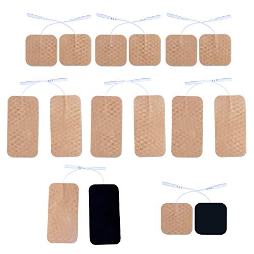 16 Pieces Replacement TENS Electrodes Pads for Use with Tens 7000