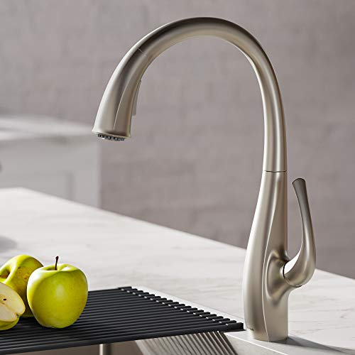 KRAUS KPF-1675SFS Ansel Dual Function Pull-Down Kitchen Faucet, Spot Free Stainless Steel Finish