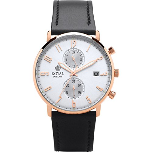 Royal London 41352-06 Herren Slim Multifunktions-Armbanduhr