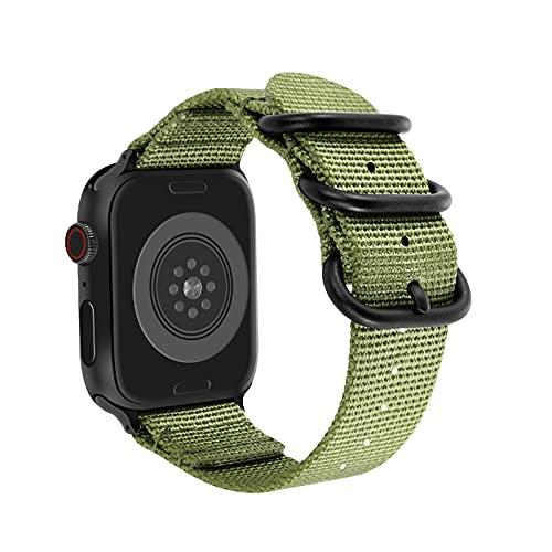 Doweiss - Cinturino in nylon compatibile con Apple Watch, cinturino di ricambio in tessuto sportivo, comodo, unisex, design per smartwatch iWatch serie 6 5 4 3 2 1