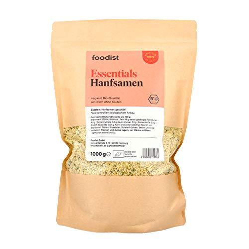 Foodist Hanfsamen BIO 1KG, geschält