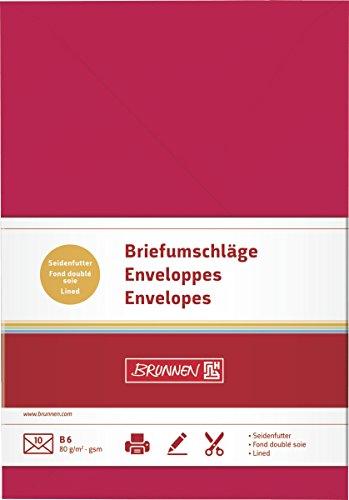 Brunnen 105125624 - Sobre de papel universal B6, color rojo