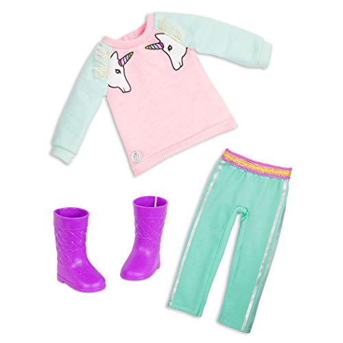Glitter Girls Dolls by Battat – Unicorn Dreaming Fashion Outfit (Pink) – 14-inch Doll Clothes and Accessories for Kids Ages 3 and Up – Children's Toys