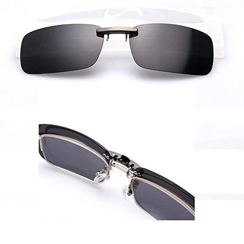 Xatan Polarisierte Sonnenbrille Clip Brillen Aufsatz Brillenträger für Unisex (Schwarz)