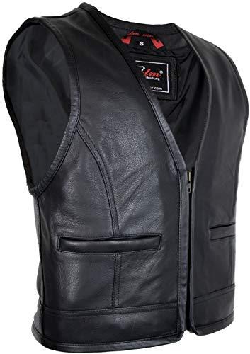 MDM Biker Lederweste mit Reißverschluss (L)