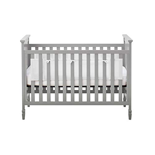 BreathableBaby Classic Breathable Mesh Liner for Solid End Cribs - White