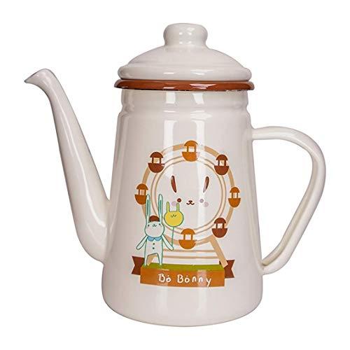 JSMY Kettle Taza de café esmaltada Taza de Leche Taza de Agua,hervidor de Agua de Esmalte exquisitamente diseñado,Linda Taza Segura y Duradera,Adecuada para Usar en la Oficina en casa Cocina de i
