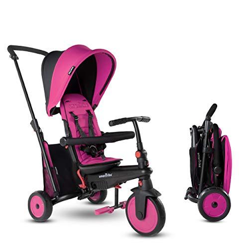 Smartrike- STR3 Plusieurs Étapes 6 en 1 Tricycle Pliable Enfant avec Certification Poussette pour 1,2,3 Ans, 5021233, Rose