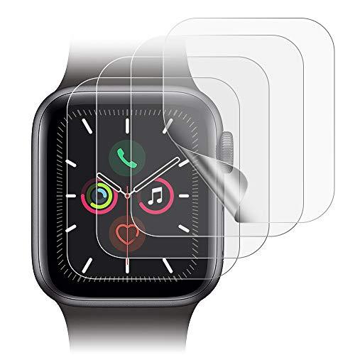 Echden Schutzfolie für Apple Watch 40mm Series 6/5/4/SE HD klar Flexible TPU Folie Blasenfreie Kompatibel mit Hülle Premium-Qualität Einfache Installation Bildschirmschutzfolie(4 Pack)