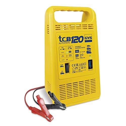 Gys TCB 120 120-CHARGEUR AUTOMATIQUE-12 V-Livre avec Pinces DE Charge ISOLEES