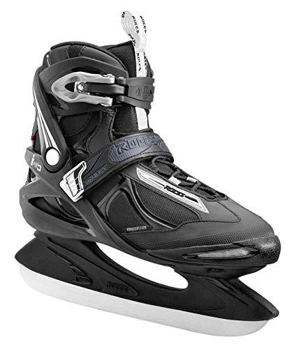 Roces 450680 Men's Model Big ICY Ice Skate, US 14, Black/White