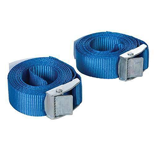 Silverline 449682 Tie-Down Cam Buckle Straps 2.5m x 25mm 250kg Lashing Capacity 500kg Breaking Strain Pack of 2