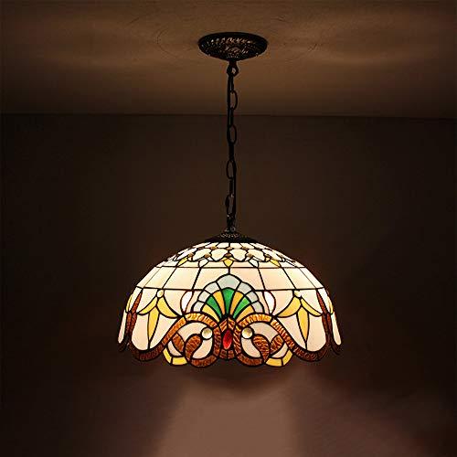 Tiffany hanglamp, lampenkap, lampenkap, barokspin, van glas