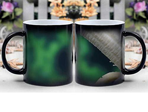 Amymami Personalized Gifts Heat Changing Magic Coffee Mug - Banana Breakfast Colorful Condom Defend Disease 1