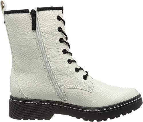 Tamaris Damen 1-1-25224-23 Biker Boots, Weiß (White Patent 123), 38 EU