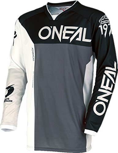 O'NEAL Mayhem Lite Split MX Jersey Trikot lang grau/schwarz/weiß 2018 Oneal: Größe: L (52/54)