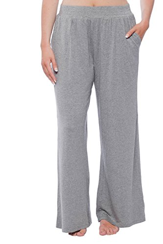 New York & Company Women's Knit Lounge Pant with pockets Grey L