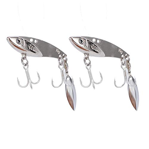 DAUERHAFT Cebo de Pesca Ligero de señuelo de Pesca Artificial 2PCS, para Pescar(10g)