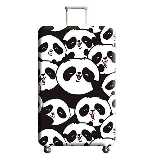Cubierta de Equipaje Estampado Animal Conjunto de Maleta con Forma de Panda,Duradero Protector Lavable Plegable, el Tamaño del Protector de la Maleta se Ajusta 18-32 Pulgadas (Panda 2, S)