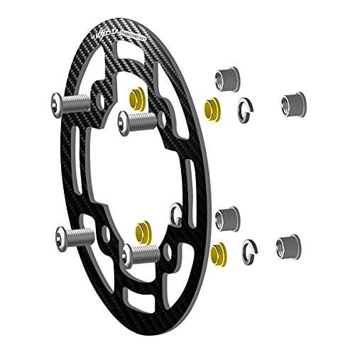 hksod Protezione della Catena della Bicicletta 104 BCD di Protezione della Catena 4 Fori Protezione della Catena per Biciclette 40-42T, Mountain Bike