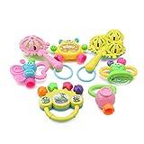 7 unids/lot infantil juguetes para bebés juguetes recién nacidos bebé mano campana desarrollo abdico juguetes 0-12 meses Juguetes de bebé recién nacido (Color : 778665)