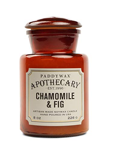 Paddywax Candles Apothecary Collection Jar Candle, 8-Ounce, Chamomile and Fig