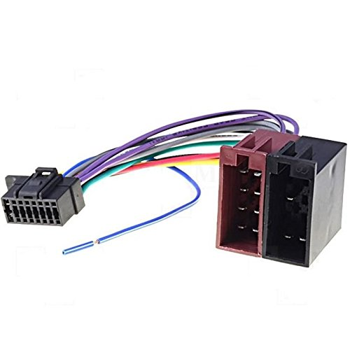 Sound-way Cable Kabelbaum Anschluss ISO Adapter Kompatibel mit Autoradio Sony 16 Pins